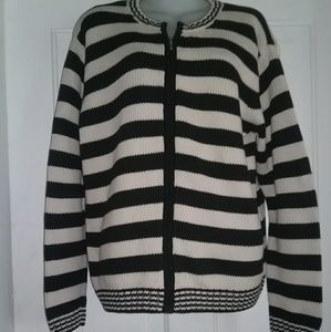 Talbots zip up sweater